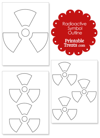 Printable Radioactive Symbol Outline from PrintableTreats.com