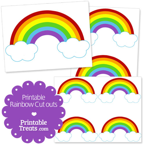 printable rainbow cutouts