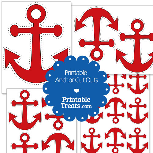 printable red anchor cut outs