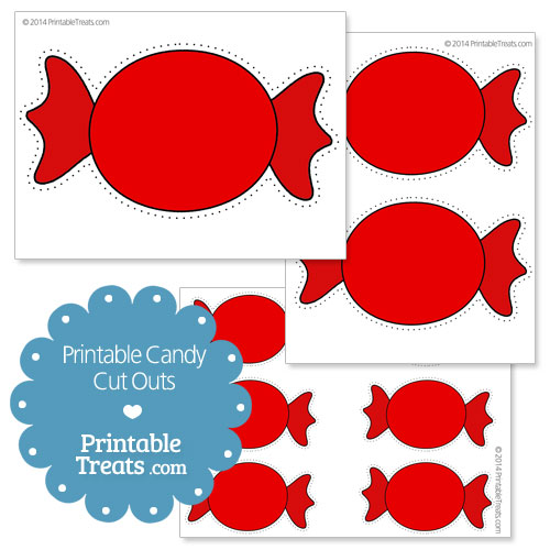 printable red candy cut outs