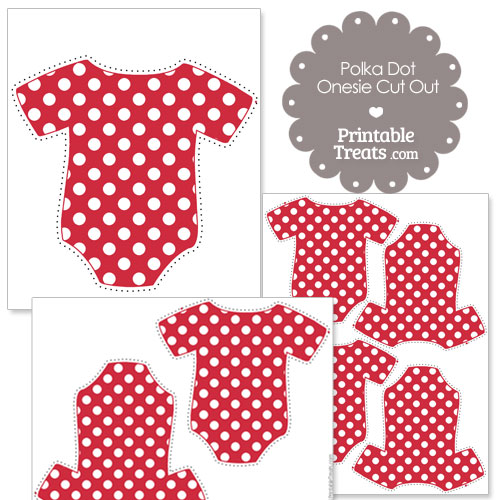 printable red polka dot onesie cut outs