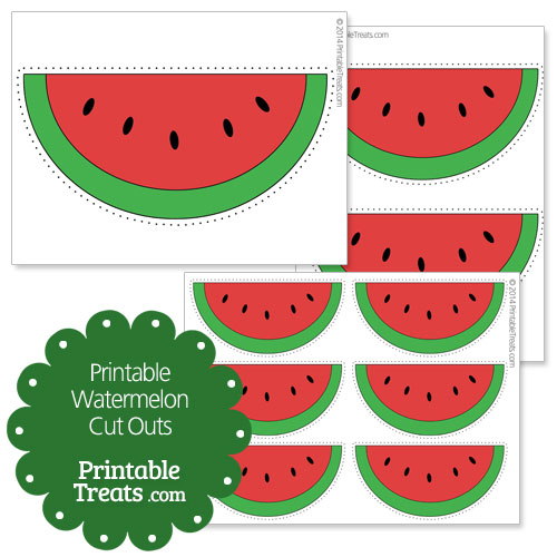 printable red watermelon cut outs