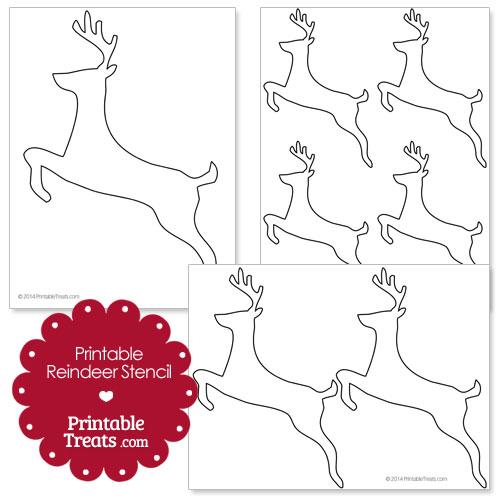 printable reindeer stencil