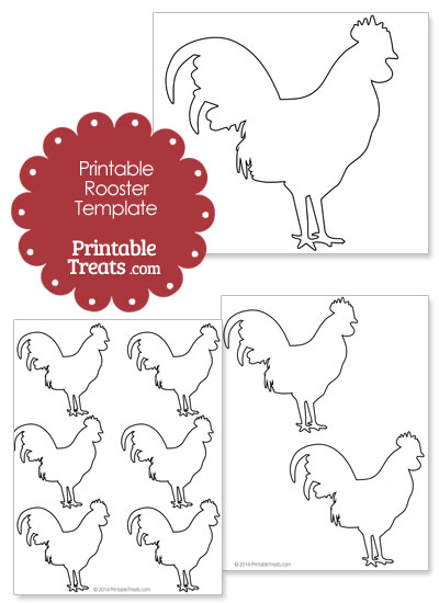 Printable Rooster Shape from PrintableTreats.com