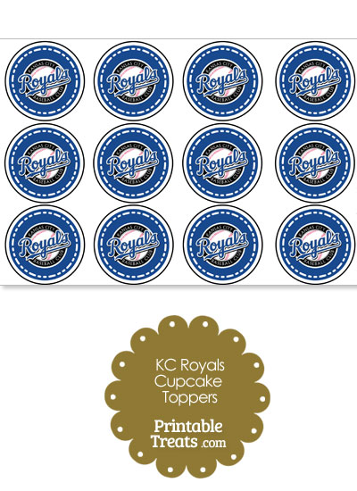 Printable Royals Logo Cupcake Toppers from PrintableTreats.com