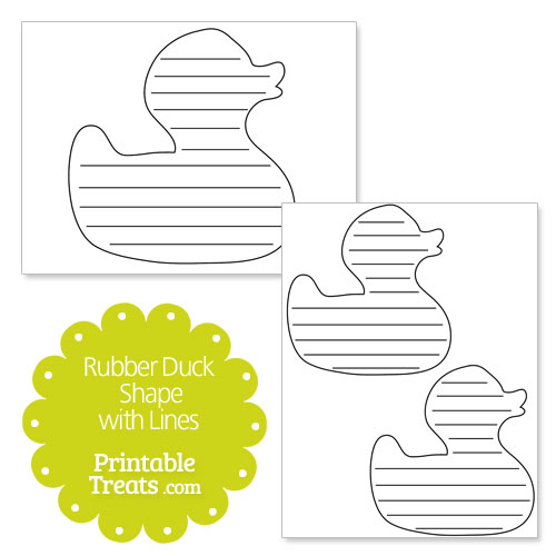 printable rubber duck shape with lines