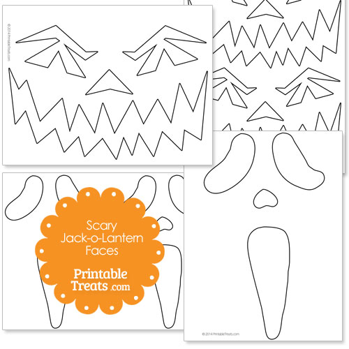 printable scary jack o lantern faces