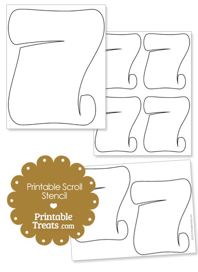 Printable Scroll Stencil from PrintableTreats.com