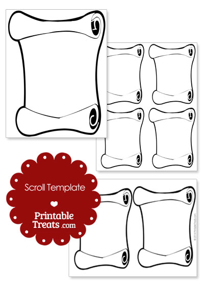 Printable Scroll Template from PrintableTreats.com