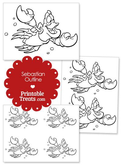 Printable Sebastian Outline from PrintableTreats.com
