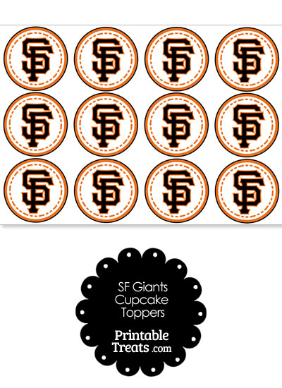 Printable SF Giants Logo Cupcake Toppers from PrintableTreats.com