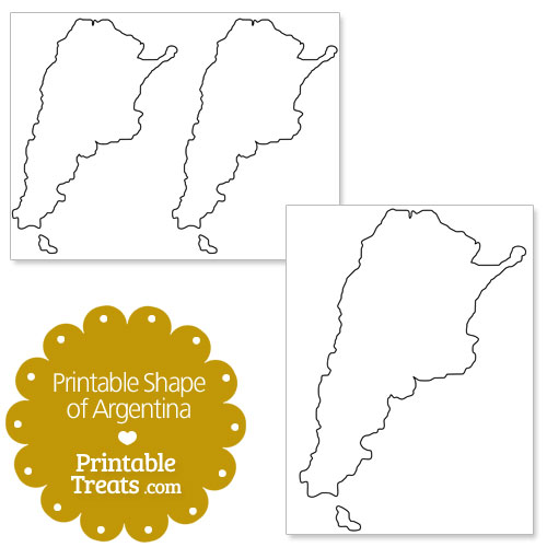 printable shape of argentina