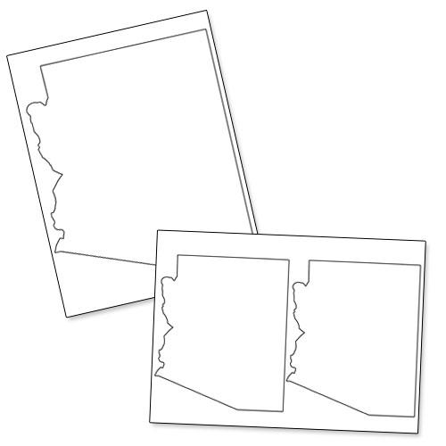 printable shape of arizona