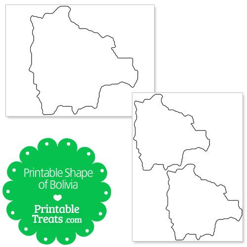 printable shape of bolivia
