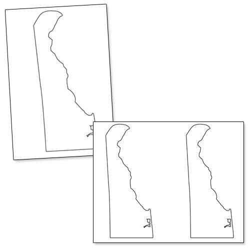 printable shape of delaware