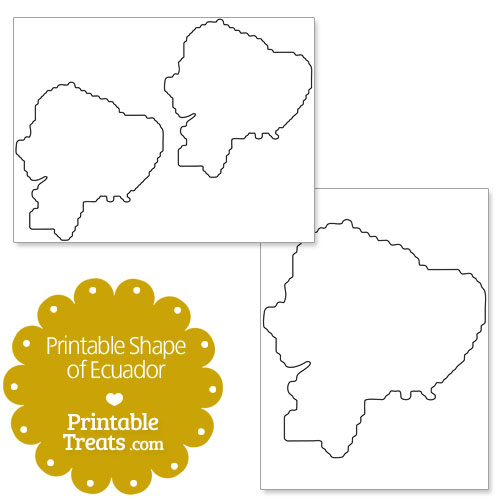 printable shape of ecuador