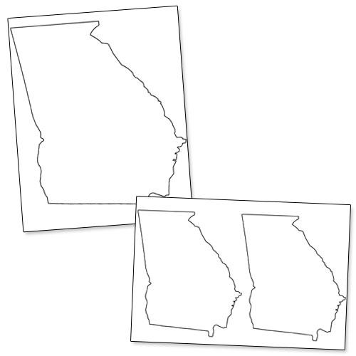 printable shape of georgia