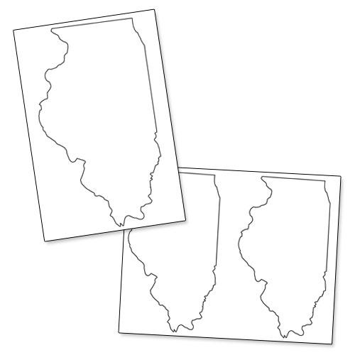 printable shape of illinois