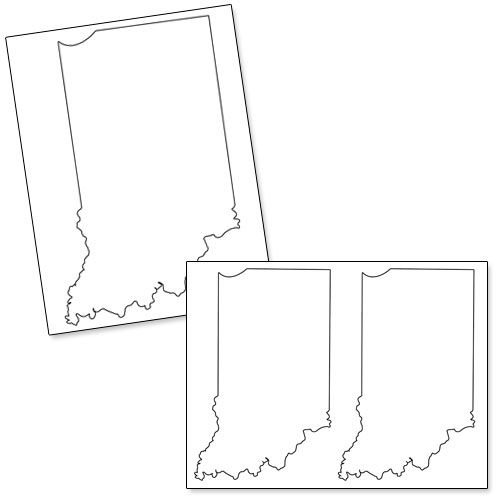 printable shape of indiana