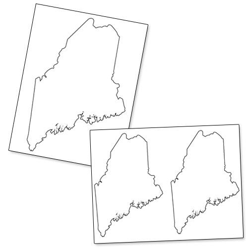 printable shape of maine