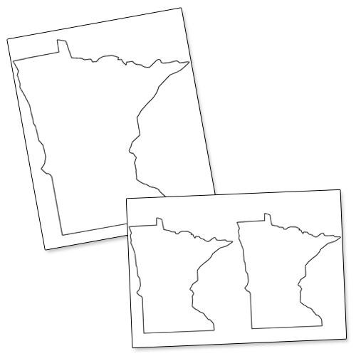 printable shape of minnesota