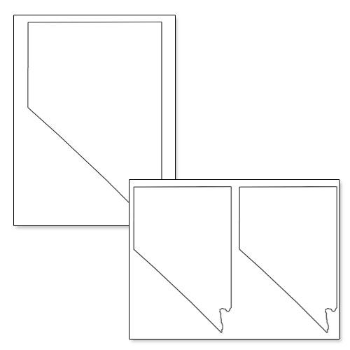 printable shape of nevada