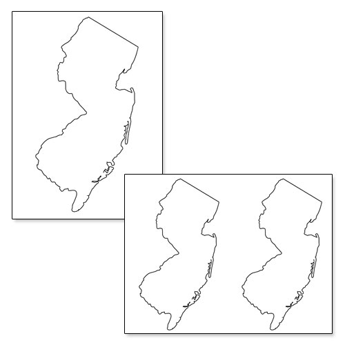 printable shape of new jersey