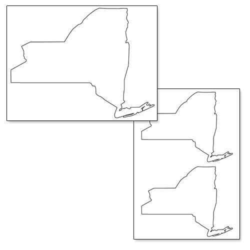 printable shape of new york