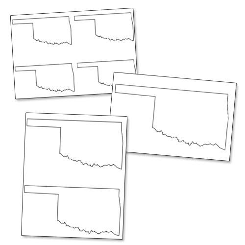 printable shape of oklahoma