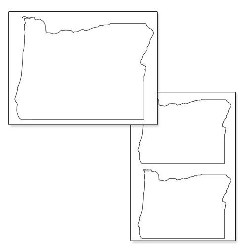 printable shape of oregon