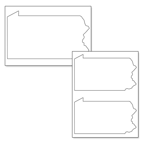 printable shape of pennsylvania