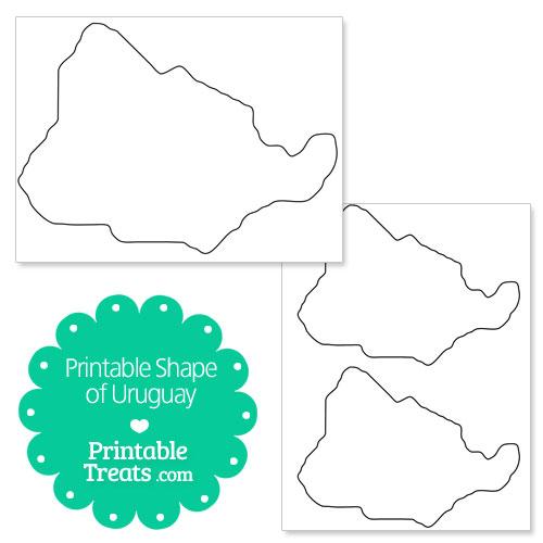 printable shape of uruguay