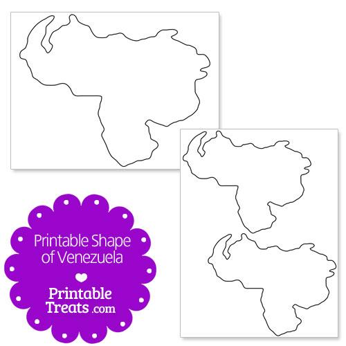 printable shape of venezuela