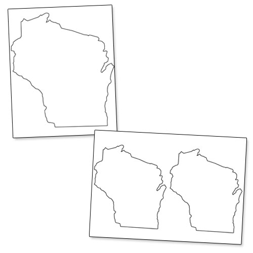 printable shape of wisconsin