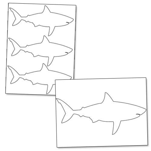 printable shark outline