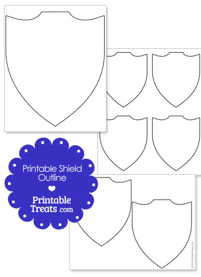 Printable Shield Outline from PrintableTreats.com