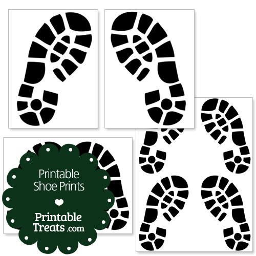 printable shoe prints