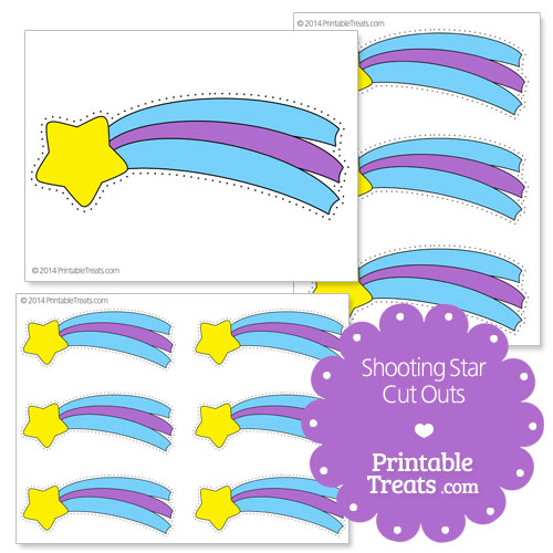printable shooting star cut outs