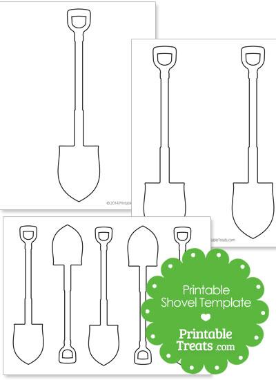 Printable Shovel Shape Templates from PrintableTreats.com