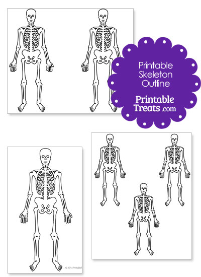 Printable Skeleton Outline from PrintableTreats.com