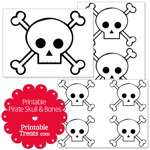 printable skull and crossbones