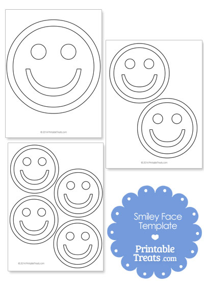 Printable Smiley Face Template from PrintableTreats.com