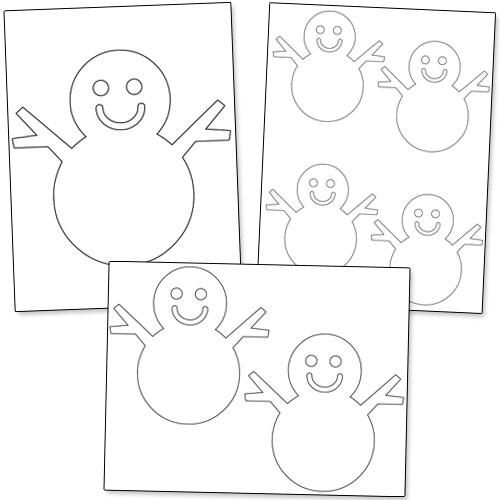 printable snowman stencil
