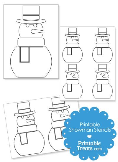 Printable Snowman Stencils from PrintableTreats.com