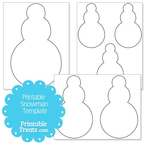 printable snowmen template