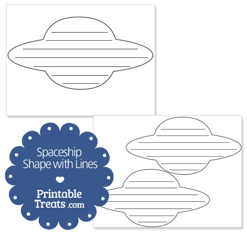 printable spaceship shape with lines