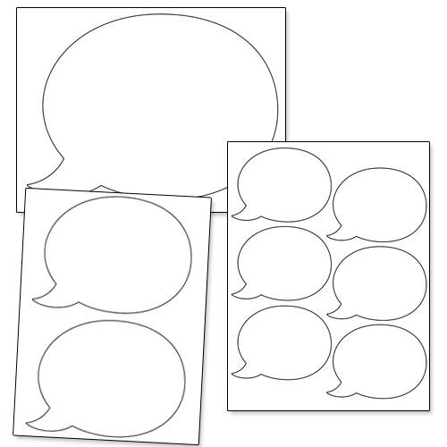 printable speech bubble shapes