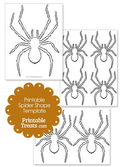 Printable Spider Shape Template from PrintableTreats.com