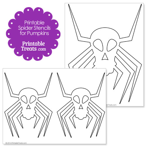 printable spider stencils for pumpkins
