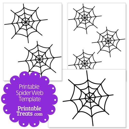 printable spider web template
